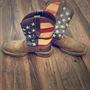 Durango patriotic pull on western flag boots